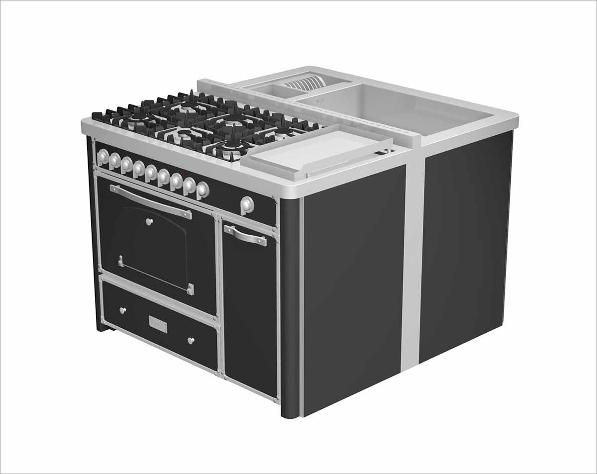 תנור קלאסי משולב בצבע שחור