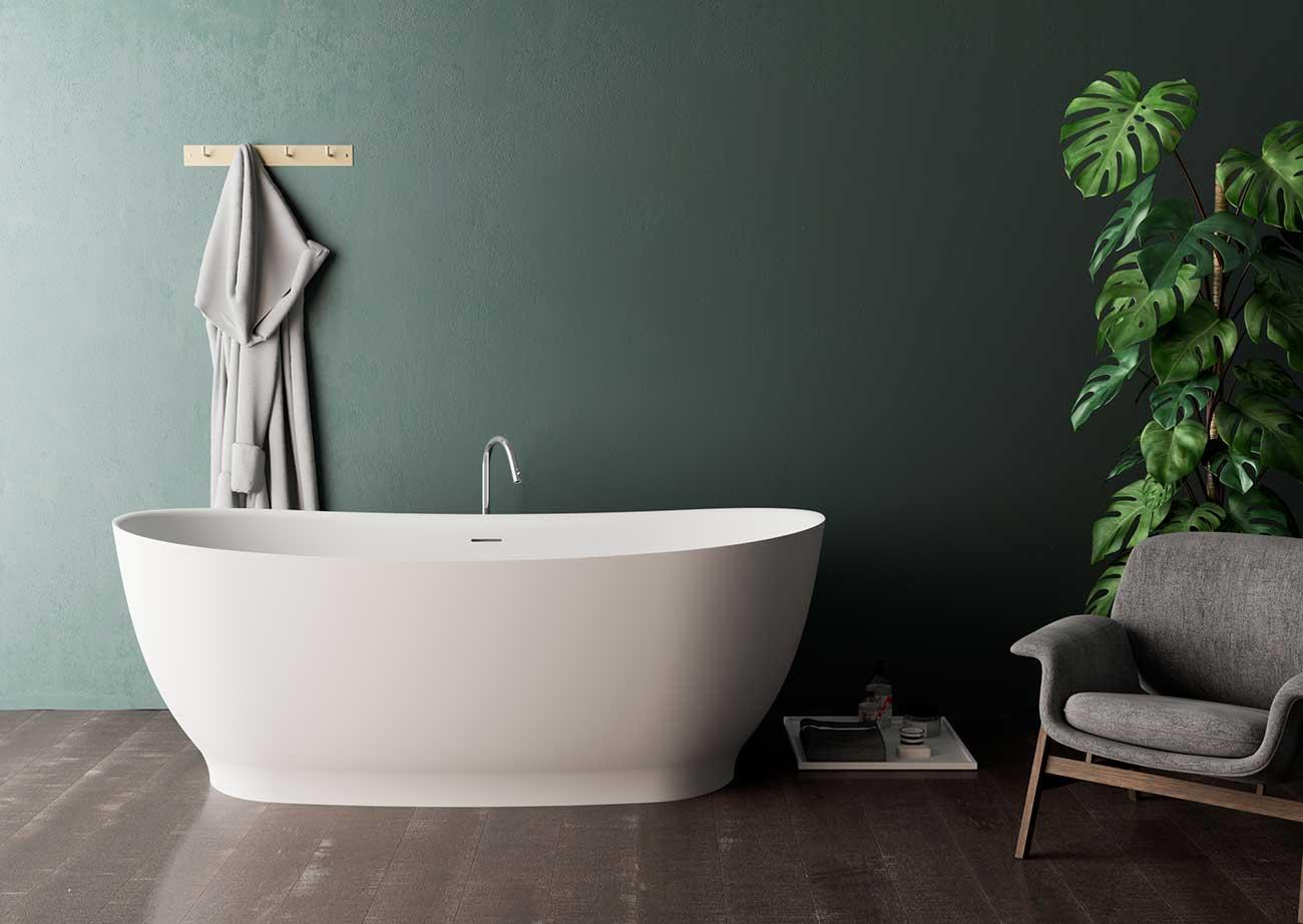 אמבטיה מעוצבת עם שיפוע