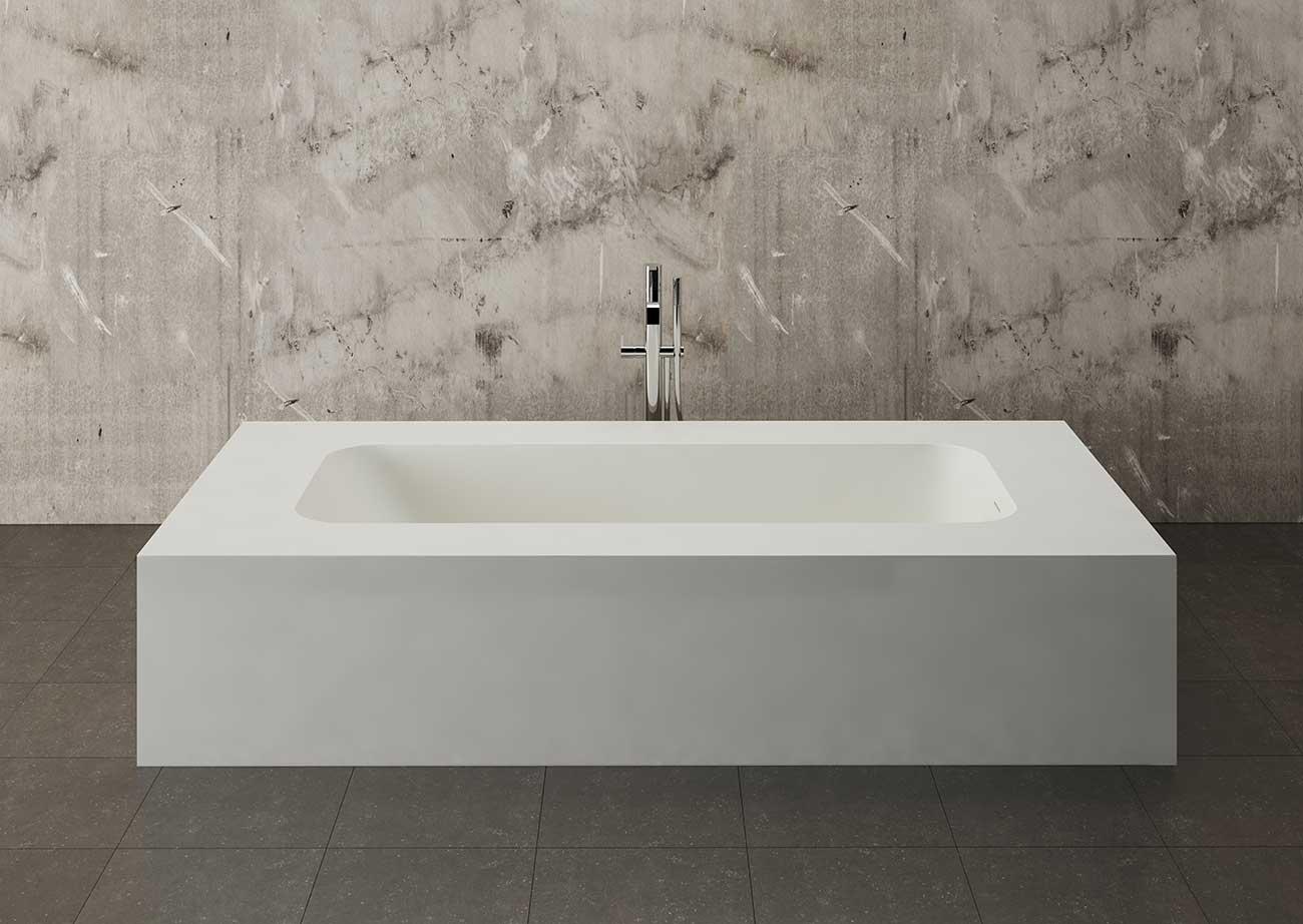 אמבטיה לבנה מעוצבת