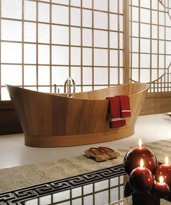 אמבטיית עץ INLE