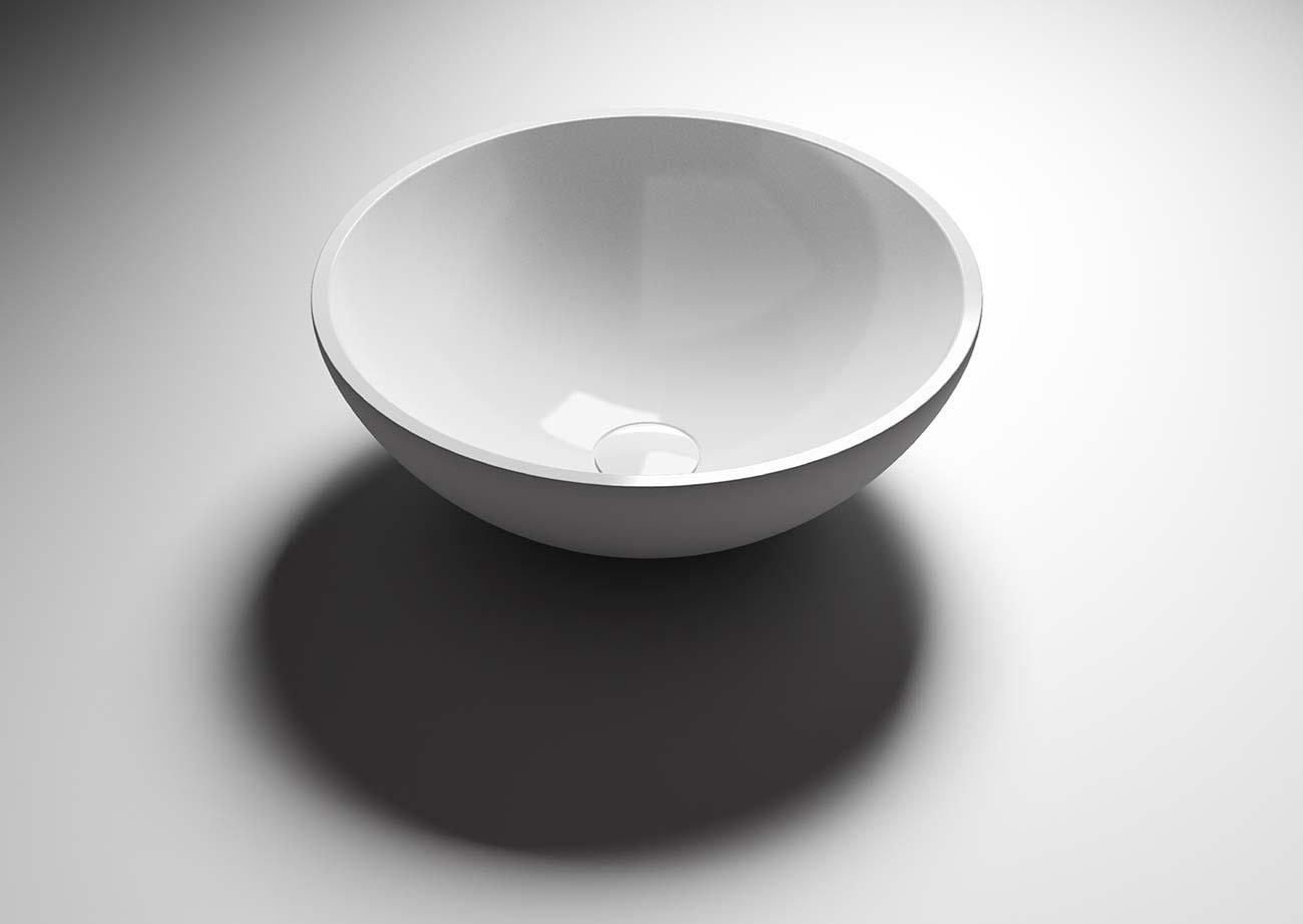 כיור עגול בצבע לבן
